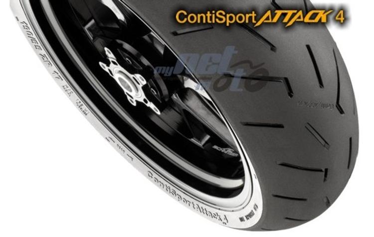 58W Satz 120//70ZR17 Continental Sport Attack 2 + 190//50ZR17 73W