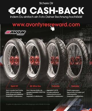 AVON MOTORRADREIFEN CASHBACK AKTION 2020