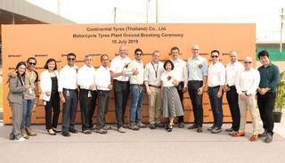 Continental laying of the foundation stone for motorbike production in Rayong / Thailand