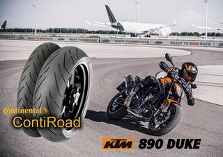 Continental ContiRoad on the new 2021 KTM 890 DUKE