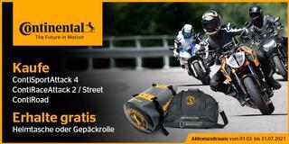 Continental Motorradreifen Promotion