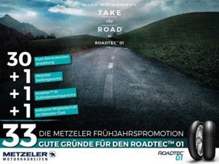 METZELER liefert 33 gute Gründe für den ROADTEC 01: Neue Reifen aufziehen und gleich mehrfach profitieren