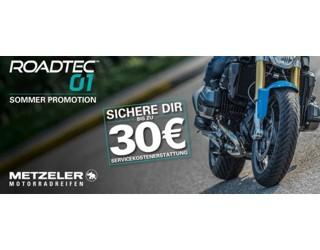 Bis zu 30 Euro Rückerstattung der Servicekosten beim Kauf eines METZELER ROADTEC 01