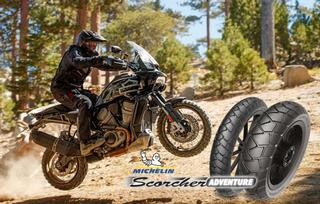 Harley Davidson OE on Michelin Scorcher Adventure