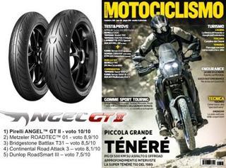 Pirelli ANGEL GT II - Sport Touring tyre test magazine Motociclismo