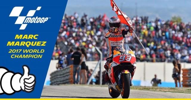 Marc Marquez 2017 motoGP world champion - MICHELIN