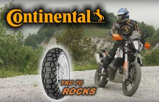 CONTINENTAL TKC 70 ROCKS for a better Traktion on the rear tyre