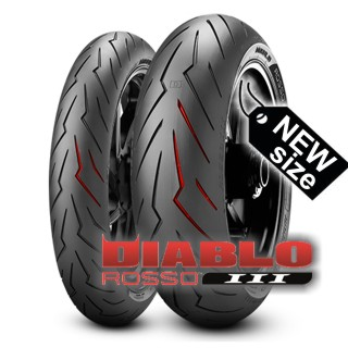PIRELLI DIABLO ROSSO III in new size available