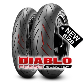 PIRELLI DIABLO ROSSO SCOOTER in new size available