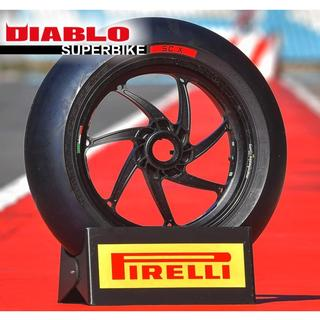 PIRELLI DIABLO SUPERBIKE SLICK - compound updates with the introduction of the new SCX and larger sizes