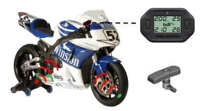 Tire Watch - tyre pressure monitoring system for racing motorcycles TPMS