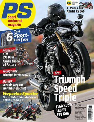Motorcycle tire test of the magazine PS - sport tires