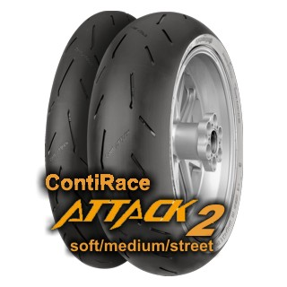 120/70 ZR17 (58W) RACEATTACK 2 MEDIUM / CONTINENTAL